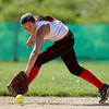 Masco shortstop Casey Maidment concentrates while fielding a ground ball against North Reading on Wednesday afternoon. DAVID LE/Staff photo. 5/21/14.