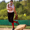 Senior Pitcher Emily Dow (24). DAVID LE/Staff photo. 5/21/14.