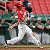 Masco sophomore Elias Varinos (2) lines a hit against Westwood. The Chieftains captured the D2 State Championship with a 10-2 win over Westwood at Campanelli Stadium in Brockton on Thursday afternoon. DAVID LE/Staff photo. 6/12/14