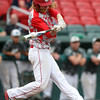 Masco junior Greg Dougherty makes contact against Westwood. The Chieftains captured the D2 State Championship with a 10-2 win over Westwood at Campanelli Stadium in Brockton on Thursday afternoon. DAVID LE/Staff photo. 6/12/14