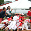 Masconomet celebrates the D2 State Championship with a 10-2 win over Westwood at Campanelli Stadium in Brockton on Thursday afternoon. DAVID LE/Staff photo. 6/12/14