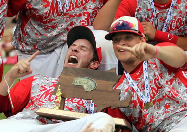 Masconomet captured the D2 State Championship with a 10-2 win over Westwood at Campanelli Stadium in Brockton on Thursday afternoon. DAVID LE/Staff photo. 6/12/14