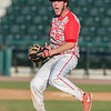 DESI SMITH/Staff photo.    Masco's pitcher William Twist celebrates the last out against Gloucester for the win in the MIAA North Sectional Championship game held Saturday afternoon at LeLacheur Park in Lowell.    June 7,2014