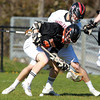 Marblehead: Beverly's Brendan Flaherty and Marblehead's Zac Cuzner battle for possession of a ground ball on Tuesday afternoon. David Le/Salem News