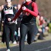 Marblehead: Marblehead freshman Alyssa Nye wins the 100m dash against Beverly on Wednesday afternoon. David Le/Salem News