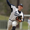 Peabody: Peabody High School starting pitcher Pat Ruotolo fires a strike against Beverly on Wednesday afternoon in a battle between two NEC teams. David Le/Salem News