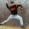 Peabody: Beverly starting pitcher Eric Messina fires a pitch against Peabody on Wednesday afternoon. David Le/Salem News