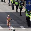 Boston: Shalane Flanagan sprints down the back straightaway of the 117th Boston Marathon to finish 4th in the Women's Elite Division. David Le/Salem News