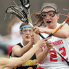 Topsfield: Masco midfielder Kathleen Gillespie fires a shot past Bishop Fenwick goalie Nicole Votta in the first half of play. Gillespie scored 6 goals and added 2 assists to lead the Chieftans to a 18-6 win over the Crusaders on Tuesday afternoon. David Le/Salem News
