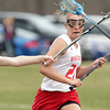 Topsfield: Masco senior Amy Arnold fires a shot on net against Bishop Fenwick on Tuesday afternoon. Arnold and the Chieftans came away with an 18-6 win over the Crusaders. David Le/Salem News