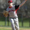 Peabody: Marblehead starting pitcher Scott Temme fires a strike against Peabody on Friday afternoon. Temme and Peabody senior Pat Ruotolo battled in a close contest, with the Tanner ace getting the win in a 1-0 contest. David Le/Salem News