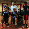 Salem: Clockwise from front left: Salem High School junior Jhonny Portes, sophomore Jonathan Santiago, Head Coach _____, freshman Gener Gonzalez, senior Charles Espinal, and senior Riqui Pacheco, will be competing in a boxing showcase held on Saturday at the High School. David Le/Salem News