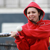 Middleton: North Shore Tech senior center fielder Emma Bouchard concentrates on making contact during a soft toss drill at practice on Tuesday afternoon.  David Le/Salem News