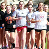 Bevery: The Beverly Panthers Girl's Track Team will be led by a deep core of distance runners including, from left, sophomore Julianna Wesley, senior captain Allison Collins, junior Nicole Demars, and senior captain Haley Albert. David Le/Salem News