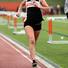 Beverly: Beverly junior Nicole Demars cruises to a win in the mile against Salem on Tuesday afternoon. Beverly swept the mile en route to an NEC win over Salem. David Le/Salem News