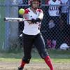 Salem: Salem shortstop Desiree Martin lines a single against Saugus on Wednesday afternoon. David Le/Salem News