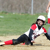 Salem: Salem's Hannah van de Stat slides safely into second base on a successful steal attempt. David Le/Salem News