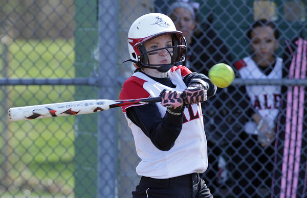 Salem: Salem right fielder Hayley Jellison connects for a double against Saugus on Wednesday afternoon. David Le/Salem News