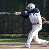 Swampscott: Swampscott second baseman Nunzio Morretti lines a base hit against Salem on Monday afternoon. David Le/Salem News