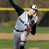 Swampscott: Swampscott starting pitcher Trevor Massey fires a strike against Salem on Monday afternoon. David Le/Salem News