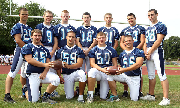 Peabody High School football seniors. David Le/Staff Photo