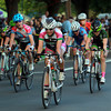 Salem: Fifteen-year-old Emma White, center, is all smiles as she crossed the finish line first to win the Women's Elite Race of the Witches Cup on Wednesday evening. David Le/Salem News