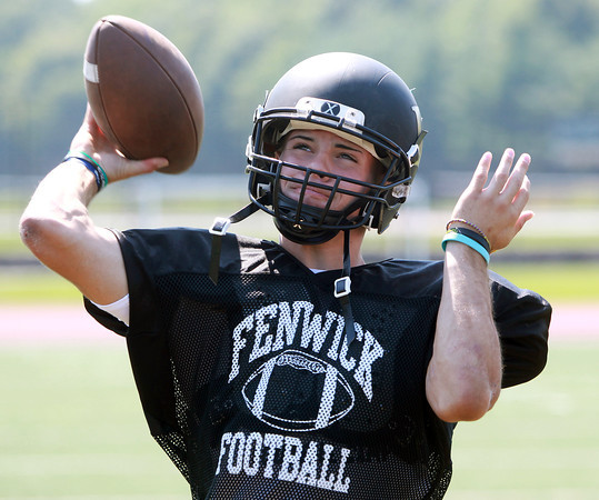 Peabody: Bishop Fenwick Football senior captain and quarterback Nick Bona will be at the helm for the Crusaders in the 2013 season. David Le/Salem News