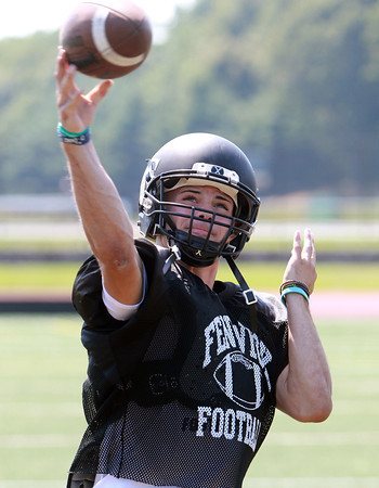 Peabody: Bishop Fenwick Football senior captain Nick Bona will be a big factor on both sides of the ball for the Crusaders, taking snaps at quarterback on offense, and anchoring the defense as a linebacker. David Le/Salem News