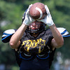 Peabody: Bishop Fenwick Football senior captain Charlie Maistrellis will play both ways for the Crusaders in 2013, as a wide receiver on offense, and patrol the field as a safety on defense. David Le/Salem News