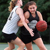 Danvers: Ipswich's Jenna Gagnon, right, drives past Bishop Fenwick's Colleen Corcoran on Tuesday evening. David Le/Salem News