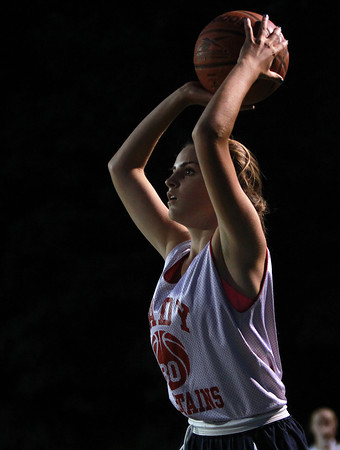 Danvers: Masco's Grace Fahey looks to pass against Bishop Fenwick on Wednesday evening. David Le/Salem News