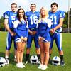 Danvers: Danvers High School senior football and cheerleading captains from left, Mike Favreau, Jackie Evans, Anthony Cordoba, Ali Lee, and Alex Valles. David Le/Salem News