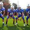 Danvers: From left, Danvers High School senior linebackers Andy Curtin, Anthony Cordoba, Ryan Chasse, and junior Joe O'Donnell, will anchor the Falcons defense in 2013. David Le/Salem News