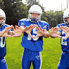 Danvers: Danvers wide receivers Cris Valles (20), Lucas Lentine (15), and Matt Andreas (29), will make contributions on offense as the Falcons look to secure a playoff berth in 2013 David Le/Salem News