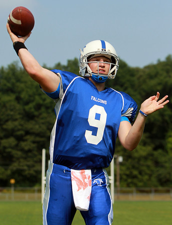Danvers: Danvers junior quarterback Nick Andreas looks to lead the Falcons to the playoffs in the 2013 season. David Le/Salem News