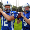 Danvers: Danvers High School senior Ryan Chasse, and junior Nick Andreas will lead the Falcons under center during the 2013 season. David Le/Salem News