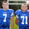 Danvers: From left, Danvers High School Football seniors Evan Haynes (7) and Jordan Renwand (71). David Le/Salem News