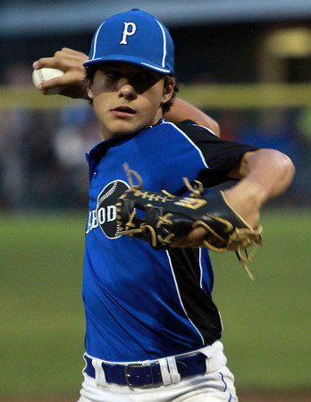 Beverly: Peabody starter Nick Iannuzzi fires a pitch against Danvers on Wednesday evening. David Le/Salem News