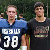 Hamilton: From left, Hamilton-Wenham seniors Ben MacDonald and Ian Dickey. David Le/Salem News