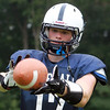 Hamilton: Hamilton-Wenham senior captain Christian Ecker will be catching passes on offense and will help anchor the defense at safety for the 2013 Generals. David Le/Salem News