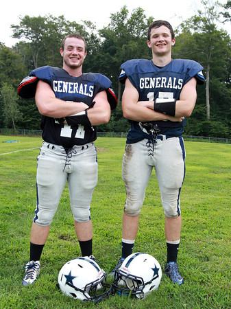 Hamilton: Hamilton-Wenham senior captains Peter Duval, and Christian Ecker, will provide veteran leadership and solid two-way play for the 2013 Generals. David Le/Salem News