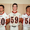 Ipswich: Ipswich High School Football seniors captain Derek Chamberlain (40), David Conway (59), and Connor McAdams (55). David Le/Salem News
