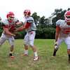 Boxford: Masco senior captains Mackenzie Cashin (RB/OLB), Troy Bunker (QB/S/K), and Mike Tivinis (RB/CB) will lead the Chieftans to qualify for the playoffs and have a deep run this fall. David Le/Salem News