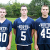 Middleton: North Shore Tech senior football players Ian Lefavour, Andrew Moles, and Luke Popoloski. David Le/Salem News