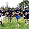 Middleton: From left, North Shore Tech running backs senior captain Ian Lefavour, sophomore Micheal Nuernberg, senior Ross Murphy, and junior captain Daniel Bailey, will look to pace the Bulldogs rushing attack this fall. David Le/Salem News