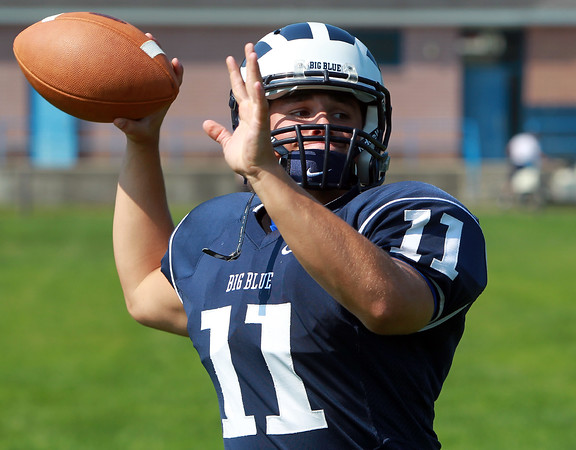 Swampscott: Swampscott High School senior captain Brendan McDonald will look to lead the Big Blue in the 2013 season. David Le/Salem News
