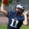 Swampscott: Swampscott High School senior captain Brendan McDonald will be under center for the Big Blue in the 2013 campaign. David Le/Salem News