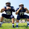 Swampscott: Swampscott High School senior captains Toby Hale, left, and Justin Nestor, will look to anchor the Big Blue offensive and defensive lines with their experience and leadership this season. David Le/Salem News