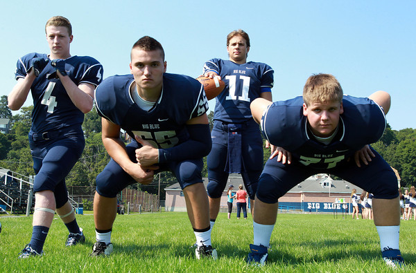 Swampscott: From left, Swampscott senior captains Ben Faulker, Toby Hale, Brendan McDonald, and Justin Nestor, will look to provide veteran leadership for the Big Blue this fall. David Le/Salem News