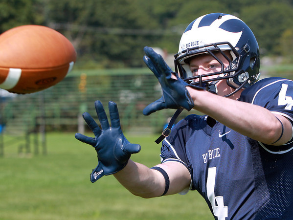 Swampscott: Swampscott senior captain and wide receiver Ben Faulkner will look to anchor the receiving corps for the Big Blue this fall. David Le/Salem News
